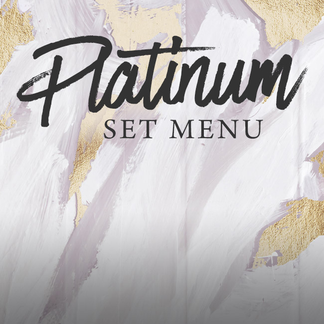 Platinum set menu at The Rambler's Rest