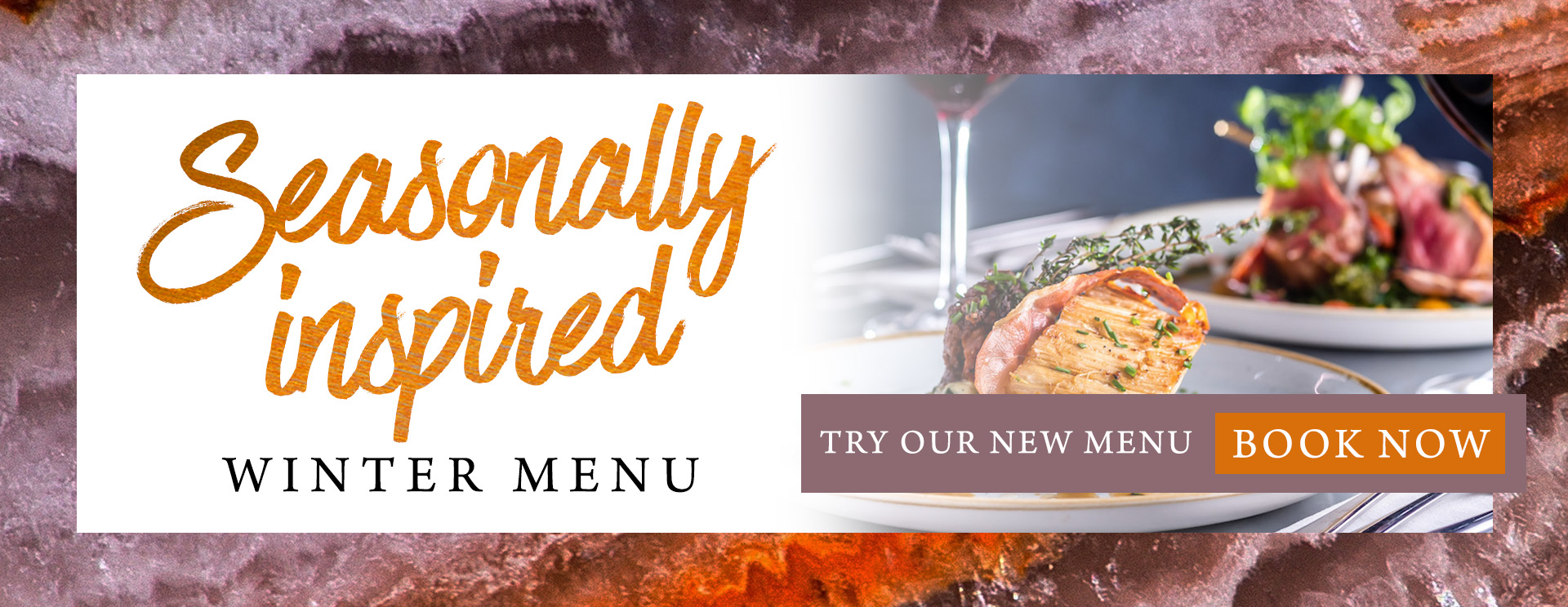 Our new winter menu at The Rambler's Rest
